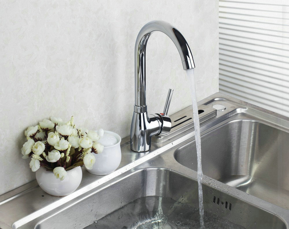 e_pack Single Handle Modern Polished Chrome Swivel Kitchen Sink Vessel Mixer Tap Faucet bathroom faucets price<br><br>Aliexpress