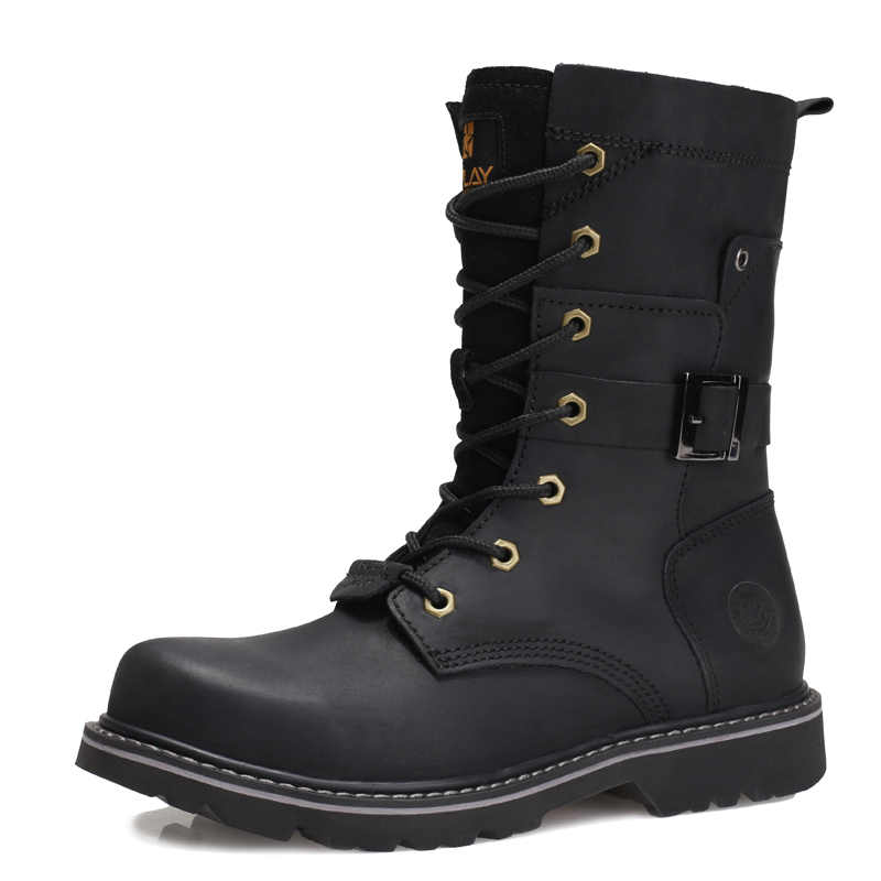 Summer Genuine Leather Male Boots Martin Boots Male Boots Male The Special Arms 07 Work High Locomotive Work Clothes Boots Shoe(China (Mainland))