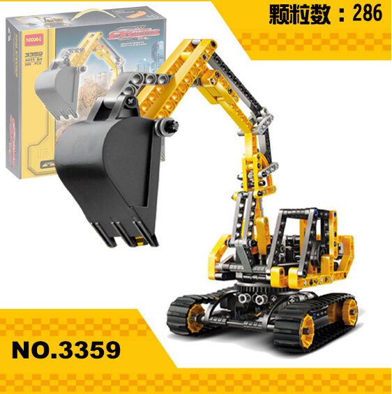 2016 New decool 3359 Track mobile excavator building blocks kids Technology Series Site Toys & Educational Compatible with legoe(China (Mainland))