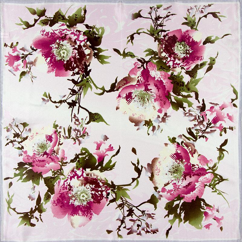 100% Silk Scarf Women Scarf Flower Neckerchief Scarf Silk Bandana Handkerchief 2016 Small Square Silk Scarf Luxury Gift for Lady(China (Mainland))