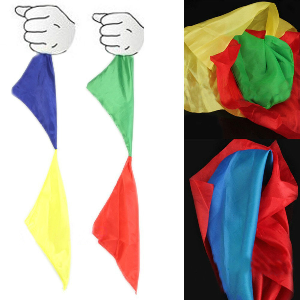 1pc New Magic Trick Props Magic Tools Toys Practical Change Color Silk Scarf Free Shipping(China (Mainland))