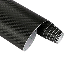 60cmx10cm Car Styling 3D 3M Carbon Fiber Sheet Wrap Film Vinyl Motorcycle Car Stickers And Decals Squeegee Tool Accessories(China (Mainland))
