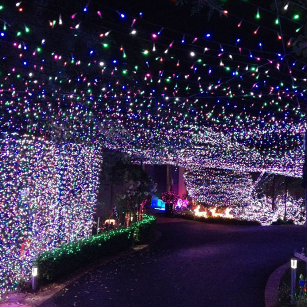 8 Models 100m 500 Leds Led String Fairy Christmas Lights Chrismas Tree String Large Outdoor Decorations for Square Wedding Home(China (Mainland))