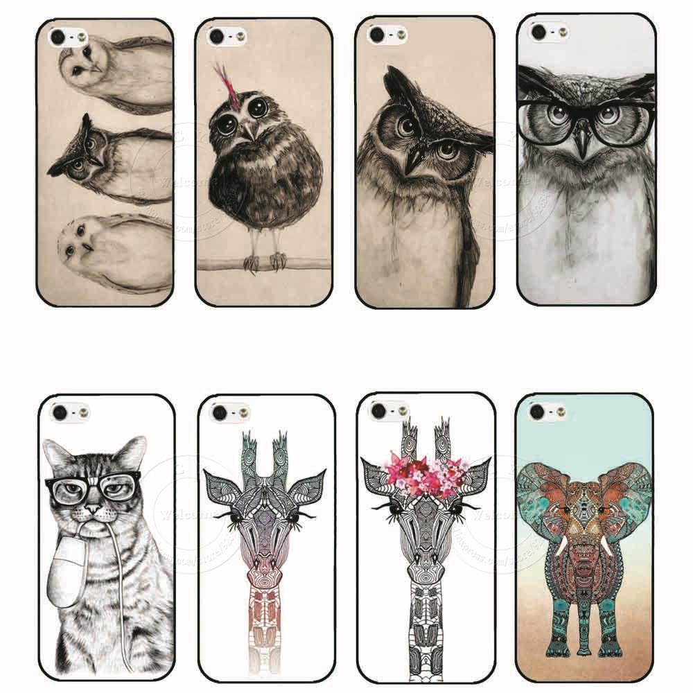 Гаджет  2015 Hot Sale New Arrive Promotion Personality Fantasy Animal Series Pictures Back Cover Case for Apple iPhone 4 4S 4G 5 5S 5G  None Телефоны и Телекоммуникации