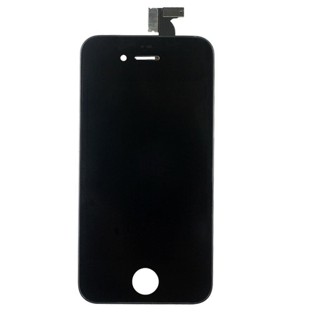 New No Bubbles LCD Display Touch Screen Digitizer Frame Outer Glass Panel Touch Sreen Digitizer Assembly for iPhone 4s 4(China (Mainland))