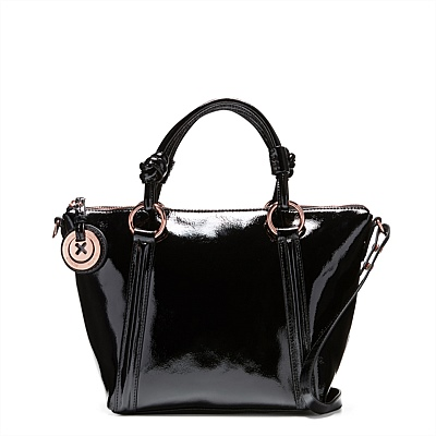 MIMCO SUPERNATURAL MINI TOTE BAG BLACK PATENT ROSEGOLD COLOR BAG(China (Mainland))