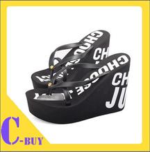 Free shipping 2014 Ultra high heels beach slippers summer wedges platform sandals flip flops women shoes