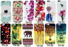 for iphone 6 TPU Case Cartoon Design Soft Rubber Silicone Flower Cover Cases for iphone 6 4.7 Soft TPU Case Free shipping