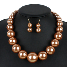 Pearl Strand Jewelry New Fashion Simulated Pearl Classic Necklace Big Pearl Bead Choker Women Pearl collar necklace W8052(China (Mainland))