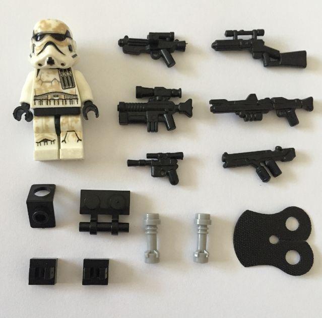 2015 POGO star wars 6pcs/lot Desert Stormtroopers minifigures building blocks bricks toys children gift Compatible With Lego