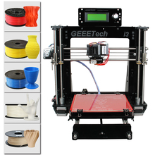 2016 New Upgraded Quality High Precision Reprap Prusa I3 3d Printer DIY Kits Free LCD