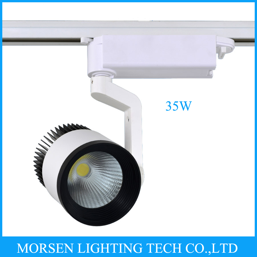 New year Wholesale 35W Single Head COB LED Track Spot Light Exclusive Shop, Jewelry Store, Showcase, Supermarket, Club, Museum(China (Mainland))