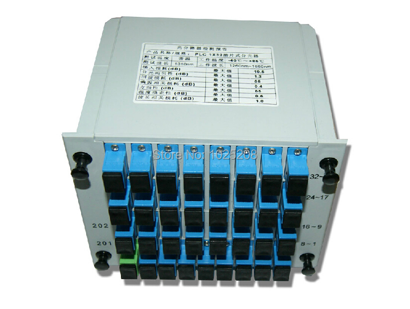 SC/UPC 1*32 Module PLC Fiber Optical Splitter SC/FC/ST/LC Connector PLC Splitter(China (Mainland))