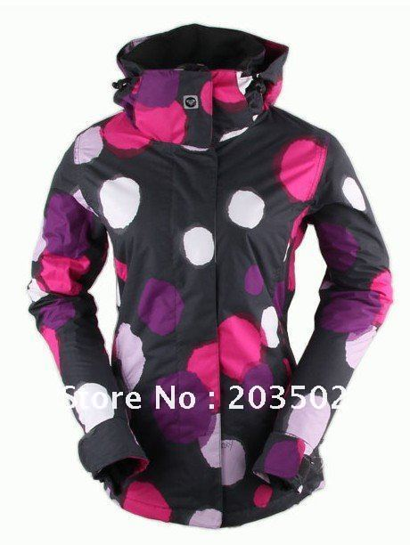 Free shipping 2012 womens snowboarding jackets best skiing clothing ski suit ride skating jacket for women lady anorak parka