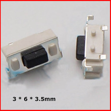 Free shipping 1000 pcs 3 x6x3.5 mm 3 * 6 * 3.5mm, touch switch SMD MP3 MP4 MP5 Tablet PC power button switch(China (Mainland))