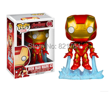 Free shipping 2015 New funko POP Marvel Avengers Age of Ultron – Iron Man vinyl figures child toys car toys