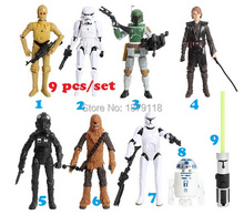 Hot new my little cute Action figure toys Star war Black Knight Darth Vader poni action toys 9pcs/set
