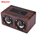 Noyazu Retro Wood Wireless Bluetooth Speaker Portable Speaker bluetooth altavoz Mini 3D Dual Loudspeakers USB Charging