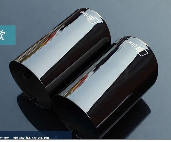 case for AUDI Q5 A3 A4 B8 Sedan 2.0 2009 2010 2011 2012 2013 2014 UP exhaust pipe car covers Car Silencer styling<br><br>Aliexpress
