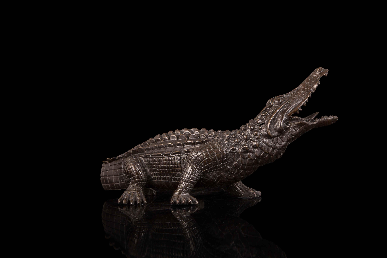European bronze animal ornaments gifts crafts Home Furnishing copper crocodile HD094  -  li peng 58168 store