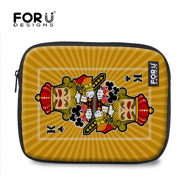 "New Free Shipping Funny Poker Printed 10"" 11"" Colorful Laptop Bag Case Laptop Sleeve For Tablet PC Notebook Bag Retail(China (Mainland))"