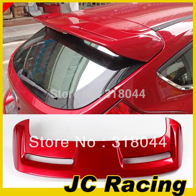ABS Ruby Red Painted ST Style Auto Car Lip Wing Spoiler For Ford Focus 12-13 (Fits For 12-13 Focus Hatchback )(China (Mainland))