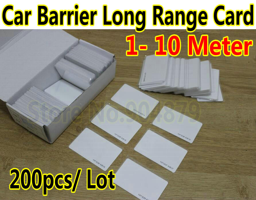 200pcs / Lot of 1 Meter --10 Meter Long range UHF RFID cards 860~960MHz Reading RFID Tag/LF/ For Car Parking Access Control kit(China (Mainland))