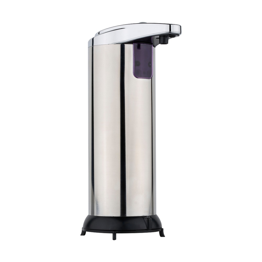 280ml Automatic Sensor Soap Dispenser Base Stainless Steel Touch-free Sanitizer Dispenser For Kitchen Bathroom(China (Mainland))