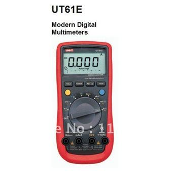 Free shipping,Frequency & Duty Cycle & Temperature Tester Meter UT-61E Auto Ranging Handheld LCD Digital Multimerer