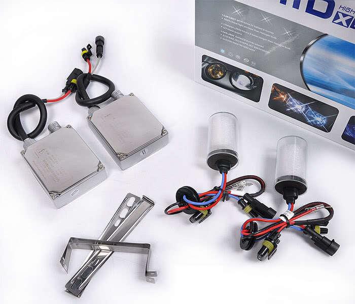 Фотография Free shipping Hot 12V 55W HID Xenon Conversion Ballast Kit Bulbs 9006 8000K Built-in decoder [AC303]