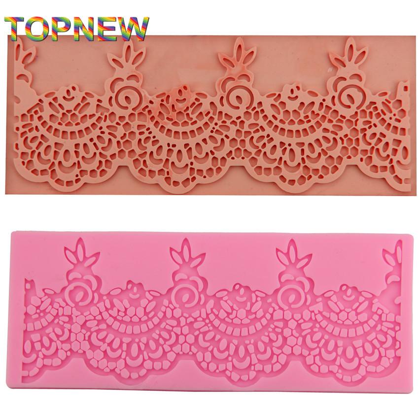 big Charming design instant fondant silicone lace mold cake mold baking tools cake decorating tools 18X7CM 2323(China (Mainland))