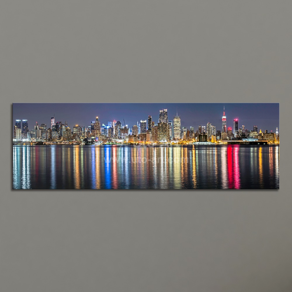Guarantee new york city canvas painting panoramic home for Home decor stores in nyc