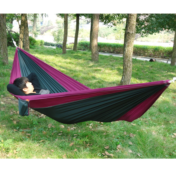 Outdoor Traveling Camping Nylon Fabric Hammock for Two Person Camping ...