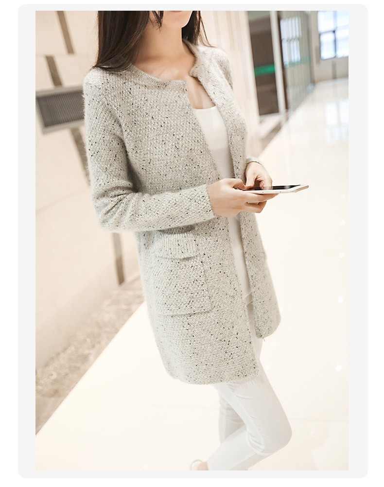 2016 New Winter Women Sweater Casual Long Sleeve Knitted Cardigans Autumn Crochet Ladies Sweaters Fashion Tricotado Cardigan D33