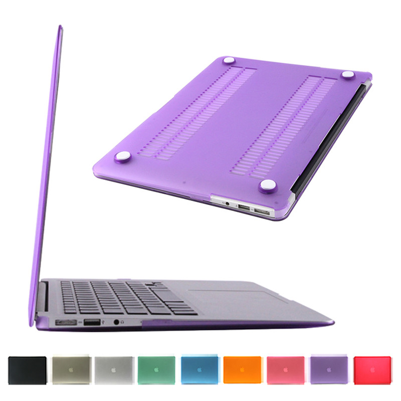 ultra thin laptop case for macbook air 13.3 inch hard pc purple color best wishes for apple laptop A1466 case cover(China (Mainland))