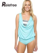 Women Summer Tube Top Beachwear Wirefree Swimsuit Bathing Suit Swimwear Three-pieces Solid Tankini Sets Light Blue S/M/L/XL