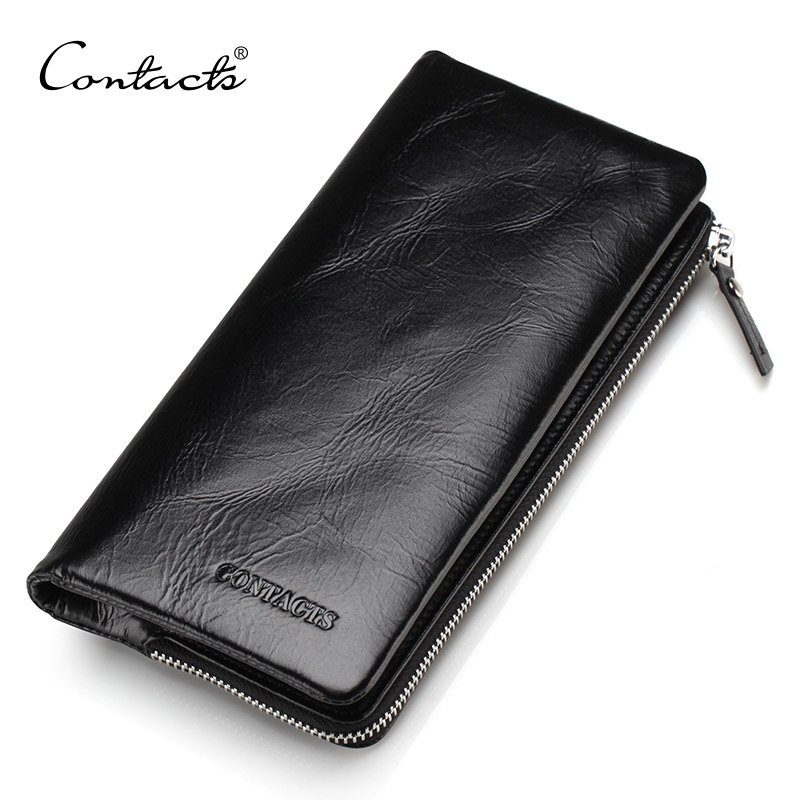 Guarantee Genuine Leather 2016 New Classical Vintage Style Men Wallets Wallet Fashion Brand Purse Card Holder Wallet Long Clutch<br><br>Aliexpress