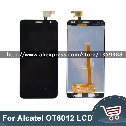 100% New for Alcatel One Touch Idol mini 6012 OT6012 OT6012D LCD Display Touch Screen Digitizer Assembly Black color with tools