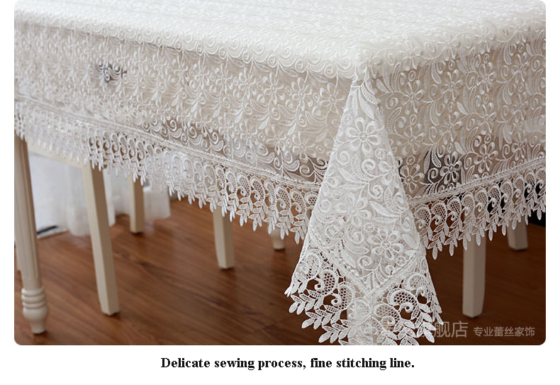 High Quality Hot Sale Elegant 100% Polyester Lace Tablecloths Wedding Table Linen Cloth Covers Home Decor Textiles 1119(China (Mainland))