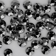 SS16 3.8-4.0mm,1440pcs/Bag Jet Hematite DMC HotFix FlatBack Crystals shiny black iron-on garment heat transfer rhinestone stones(China (Mainland))