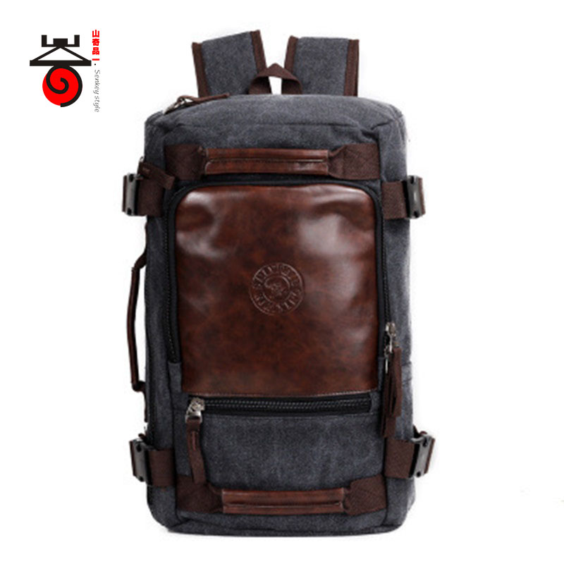 Senkey style 2017 Fashion Large Capacity Rucksack Men's Canvas Backpack MULTIFUNCTION Leisure Travel Men's Laptop Backpacks bag(China (Mainland))