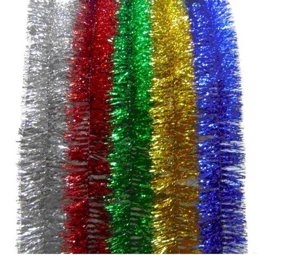 Free shipping 30 strings 1 5m christmas garland tinsel Christmas tree ribbon garland