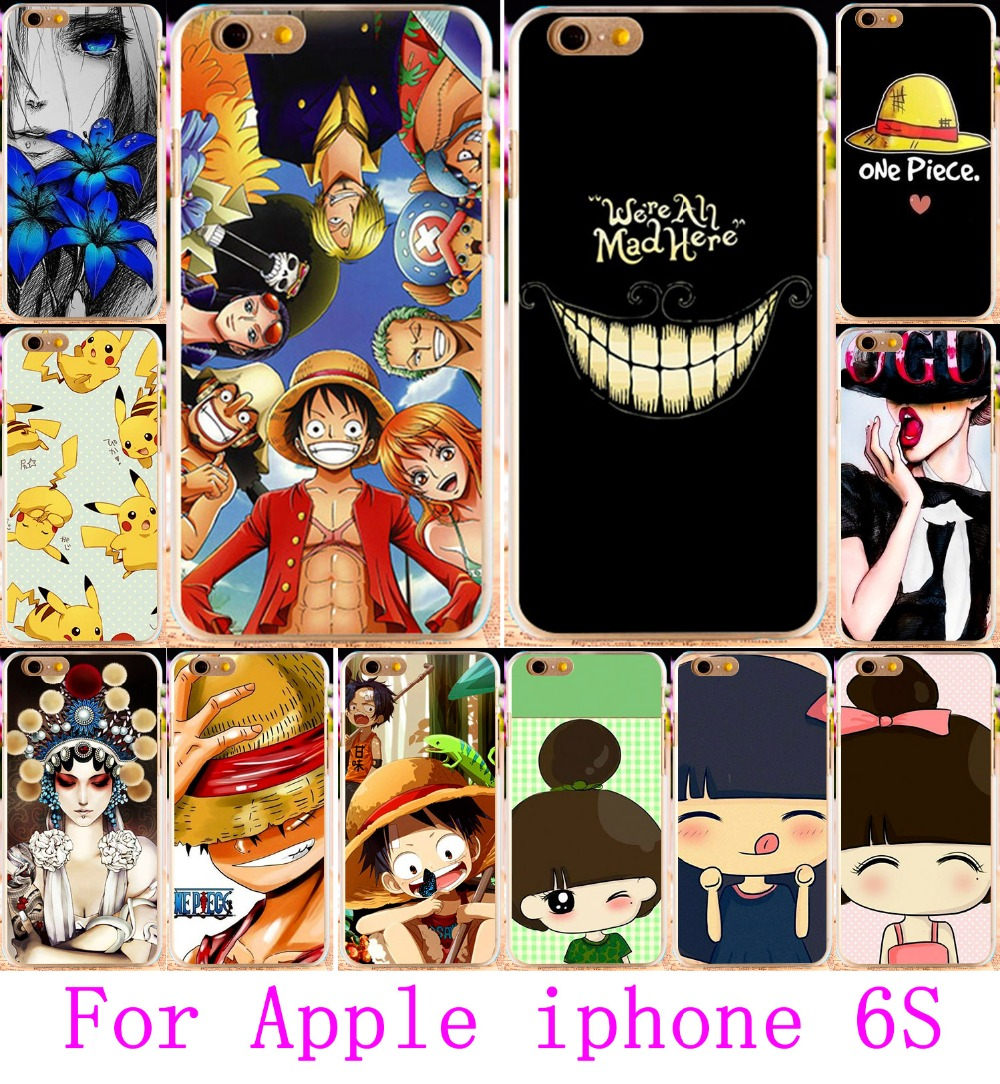 Cute Little Girl Yellow Little Hat Hard Plastic Cover for iphone 6s Case Luxury For iPhone 6S Cases 4.7 Cases Cover(China (Mainland))