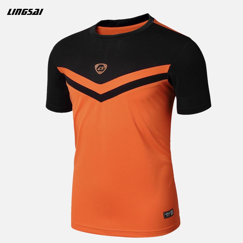 LINGSAI Summer Men Short Sleeve Compression T Shirt Quick Dry Fitness Slim Fit T-shirt Sports Tops & Tees Soccer Jerseys M-XXL(China (Mainland))