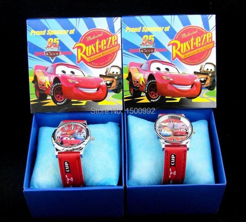 20X Red Car Watches Children Cartoon watch Children Party Gifts B05(China (Mainland))