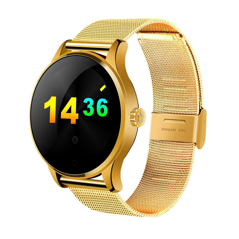 ถูก K88Hสมาร์ทนาฬิกา1.22นิ้วIPSหน้าจอรอบสนับสนุนH Eart Rate Monitorบลูทูธs mart w atchมาร์ทโฟน