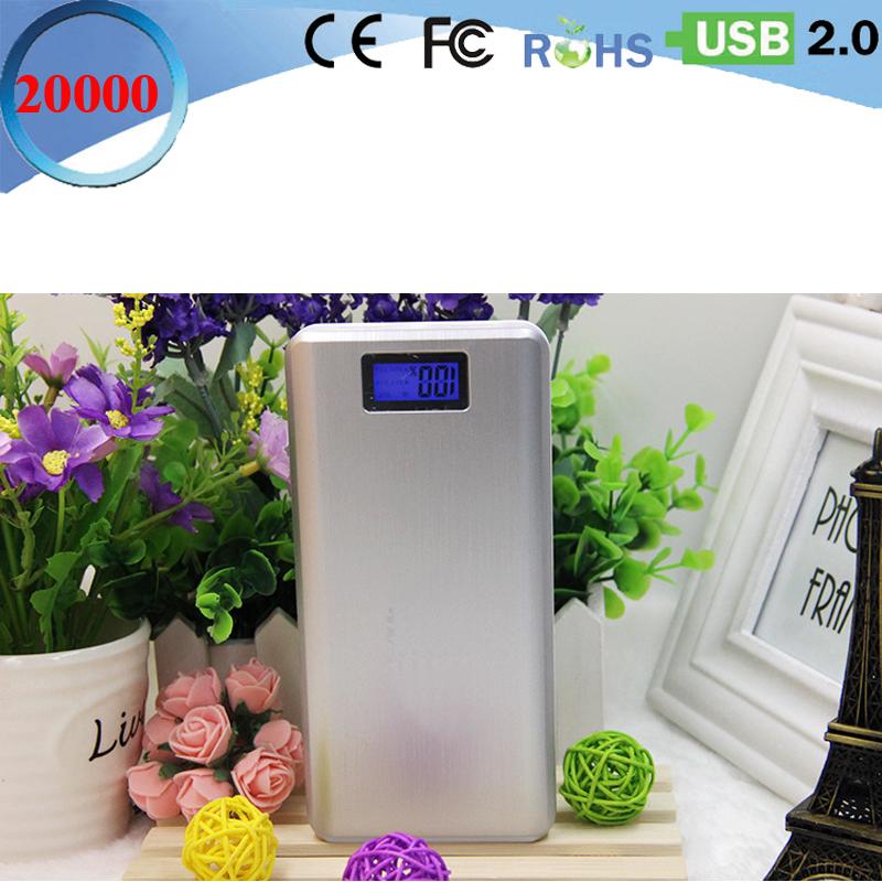 Weiling OEM mini power bank 20000mah lcd slim phones/IPAD baterias externas chargeur externe