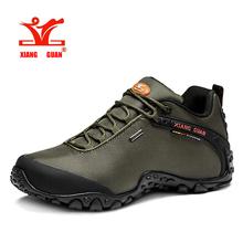 2016 xiangguan Man Outdoor Hiking Shoes fishing Athletic Trekking Boots Women Climbing Walking Sneskers large SIZE EUR 36-48(China (Mainland))