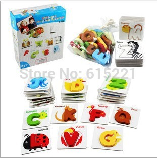 Baby Toy Wooden Toy Wooden Puzzle British Card Recognized Figure Fight Wooden toy Educational Toys WD136(China (Mainland))