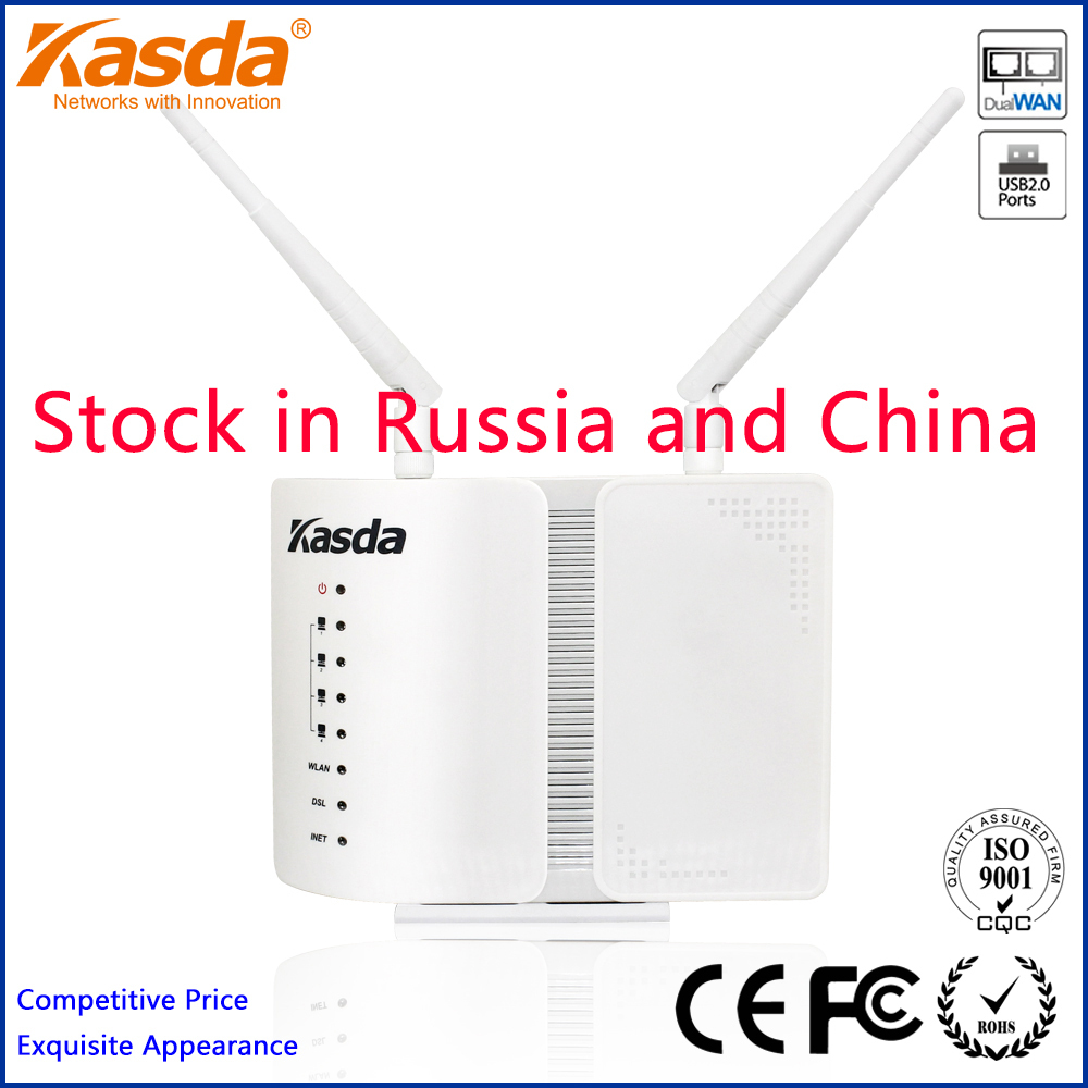 Kasda KW5813HBUS Wireless-N ADSL2+ 300Mbps Modem Router Combo 802.11n/b/g USB Printer Server Freeshipping(China (Mainland))